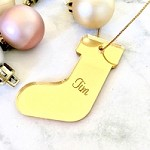 Stocking Personalised Christmas Ornament Decoration