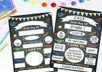 PRINT YOURSELF First Day of Kindergarten/School Poster Chalkboard