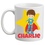Personalised Kids Mug/Cup - Superhero Boy