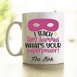 Personalised Teacher Mug Tiny Humans