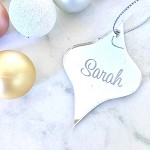 SALE - SARAH Teardrop Christmas Ornament