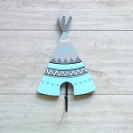 Kids Coat Hook Ice Blue Teepee