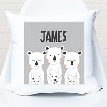 3 White Bears Personalised Cushion