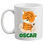 Personalised Kids Mug/Cup - Tiger