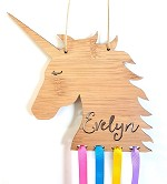 Unicorn Personalised Bow Hair Clip Holder