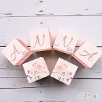 Personalised Name Wooden Blocks - Watercolour Bird