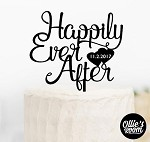 Cake Topper - Happily Ever After Hearts