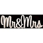 Mr&Mrs Painted Wooden Wedding name Sign (sweet font)