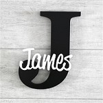 Freestanding Personalised Letter and Name - Black