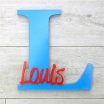 Freestanding Personalised Letter and Name - Bermuda Blue