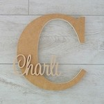 Freestanding Personalised Letter and Name - CHOOSE YOUR OWN COLOUR