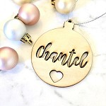 SALE - CHANTEL Wooden bauble
