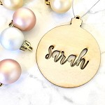 SALE - SARAH Wooden bauble