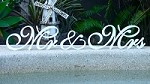 Custom Wooden Wedding Sign  - Mr&Mrs (Amore font)