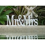 Mr&Mrs Painted Wooden Wedding name Sign (Georgia font)