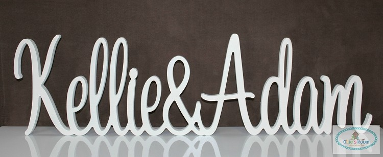 Custom Wooden Wedding Sign - Name and Name