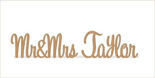 Personalised Custom Wooden Wedding Name Sign